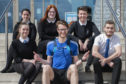 Picture shows, in the back row, Rachel Burke, Meggan Massie and Stuart Cameron. Front Row: Erin Hoggins, Andrew Taylor and Callum Milne.