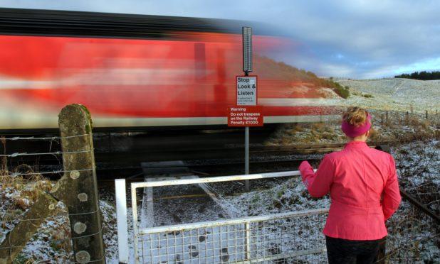 The level crossing at Panholes, near Blackford.
