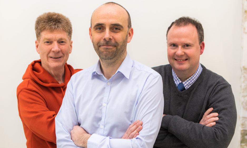 Podcasters Jim Spence, Eric Nicolson and Ian Roache.