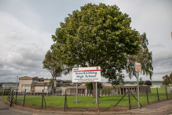 The current Inverkeithing High School site.