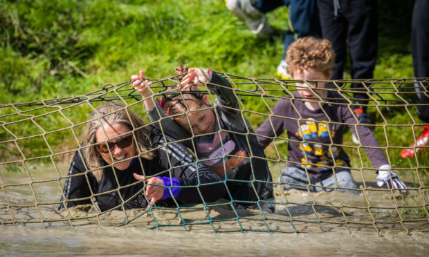 The fundraiser for a new outdoor learning facility at Errol Primary School, which is organised by the parent council, drew in hundreds of competitors.