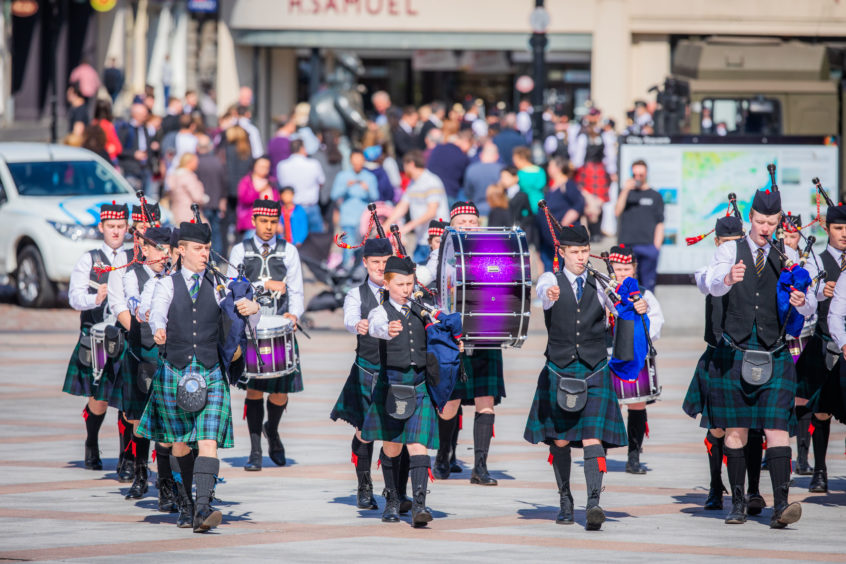 Dundee City Pipe Band Competition 2019.  High School of Dundee Pipe Band.