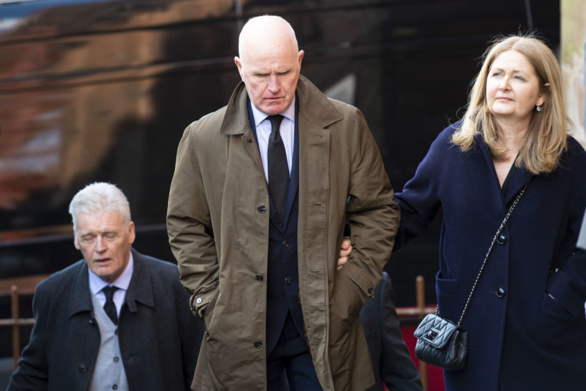 Former Celtic player Davie Provan arrives at the funeral of legendary European Cup winning captain Billy McNeill