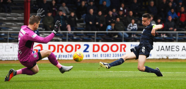 Cammy Kerr scores for Dundee.
