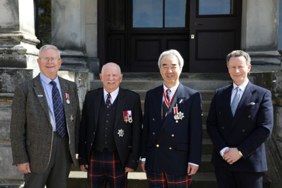 Left to Right Dr Joseph Morrow, Mr Ronnie Watt, Consul General Nozomu Takaoka, Lord Bruce