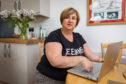 Courier News - Fife - Leeza Clark - Sepsis survivor Marguerite Henderson story - CR0009524 - Crosshill - Picture Shows: Sepsis survivor Marguerite Henderson is writing her experiences of sepsis after losing bother her hands and legs to the condition after a mere paper cut - Monday 20th May 2019 - Steve Brown / DCT Media