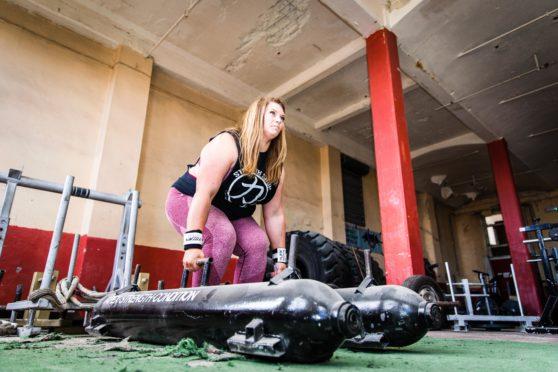 Lisa in training