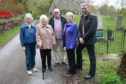 Judy Thorpe, Tenandry Kirk's Session Clerk, Archie's family Jean Fyffe, Euan Mcintosh and Evelyn Humphrey and Councillor Mike Williamson are looking forward to seeing the plaque put up