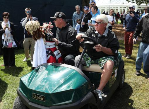 John Daly in his cart at the PGA.