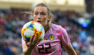 Erin Cuthbert: put Scotland 3-0 up.