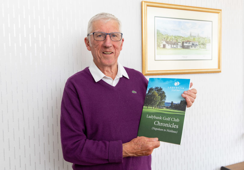Bob Drummond (77) with the newly published book