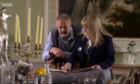 Nick Nairn with Blair Castle archivist Keren Guthrie.