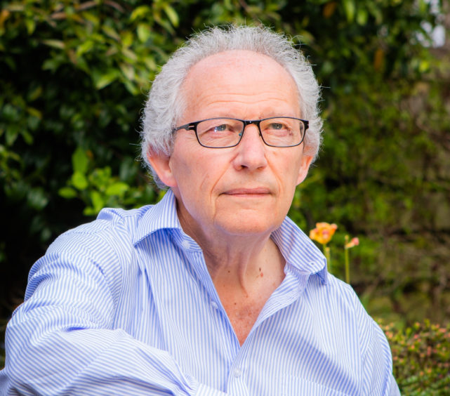 Former First Minister Henry McLeish at home in Falkland, Fife