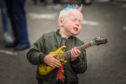Rohan McIntosh, 5, from Kirriemuir enjoying BonFest.