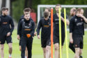 Dundee United prepare for their play-off final.
