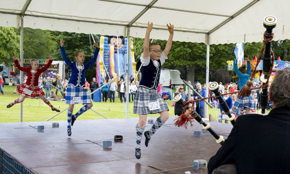 Crowds were treated to spectacular performances from the highland dancers.