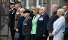 An event at Forfar's Town & County Hall at an event to launch Armed Forces Day.