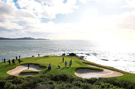 This year's US Open is taking place at Pebble Beach.