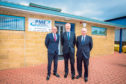 PME directors from left, Martin Hay, Grant McConnachie and Dave Page outside their new premises. Picture: Steve MacDougall.