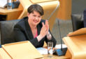 Scottish Conservative leader Ruth Davidson during First Minister's Questions at the Scottish Parliament in Edinburgh.