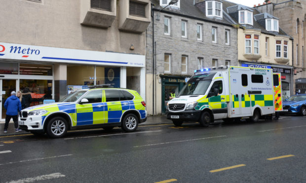 Emergency services attend scene on South Street in Perth