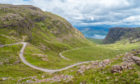 Bealach na Ba viewpoint, in Applecross peninsula in Wester Ross.