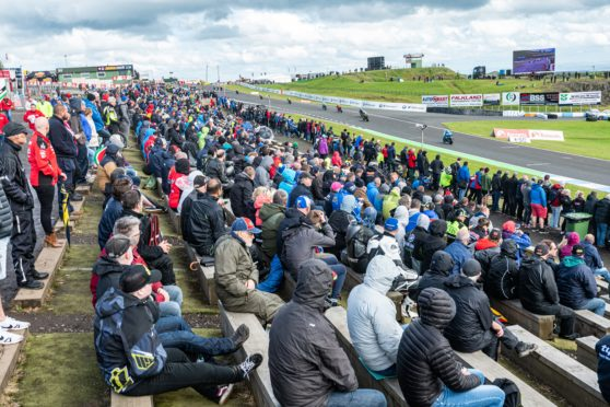 Crowd at the Bennetts British Superbike Championship in Knockhill