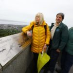 New information signs at Dundee Law as old ones were over the hill