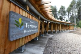 The new education and visitor pavilion at Tentsmuir National Nature Reserve.