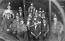 Miners pictured at the Frances Colliery in 1943.