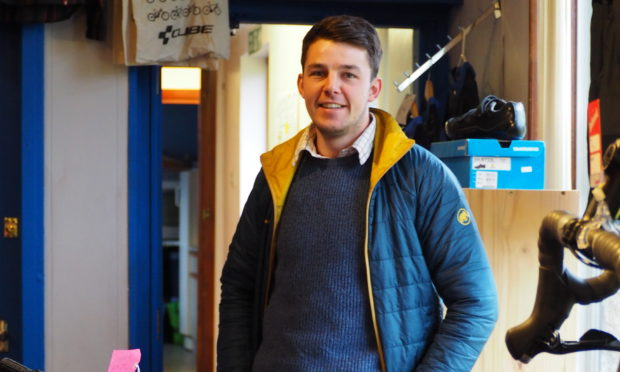 Grant Murdoch at the Coupar Angus Cycling Hub.
