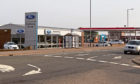 The Guthrie Bros. Ford dealership in Montrose and neighbouring petrol station which is to be re-developed.