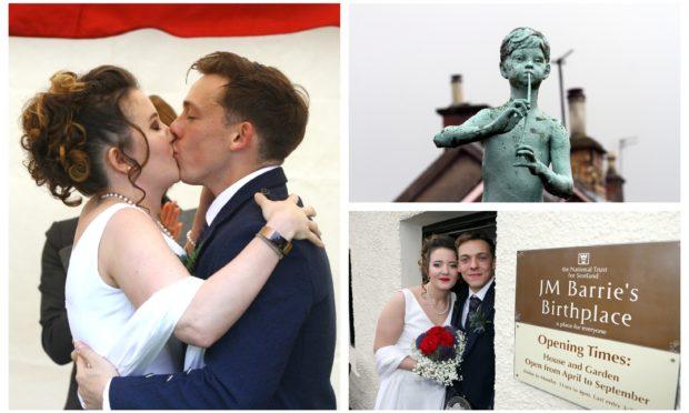 Jamie Mackie & Antzela Vasiari married at JM Barrie's birthplace.