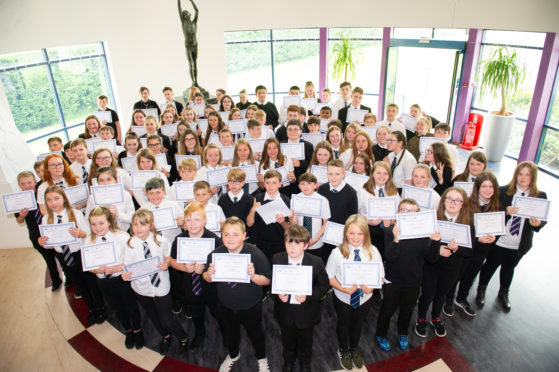 Fife College's graduation ceremony for first year pupils from four high schools, Auchmuty, Levenmouth, Viewforth and Woodmill