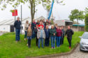 Some of the Montrose residents who protested about the smell and the flies.