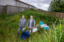 Zander Frail and Eddie Thacker at the fly-tipping site.