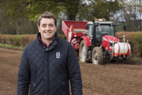 Bruce Farms potato manager Kerr Howatson was able to do field-scale trials as part of the AHDB project.