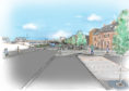 An artist's impression of the finished works on Kirkcaldy Esplanade.