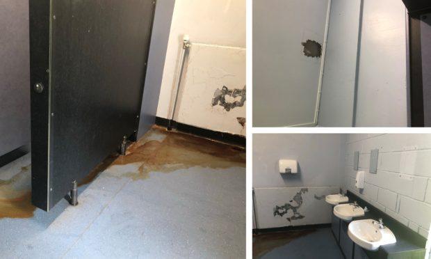 The toilet at Perth Grammar School.