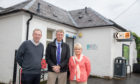 Business owners Mark Wood and Natalie Johnson and Cllr Mike Williamson are campaigning to extend the opening hours of the public toilets  in Pitlochry.