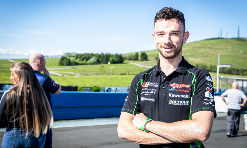 Glenn Irwin (29) from Carrickfergus testing at Knockhill ahead of race weekend.