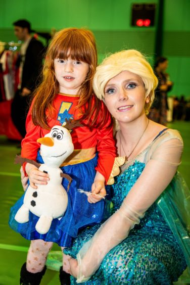 Erin MacLeod, 4, from Markinch with Frozen's 'Elsa'.