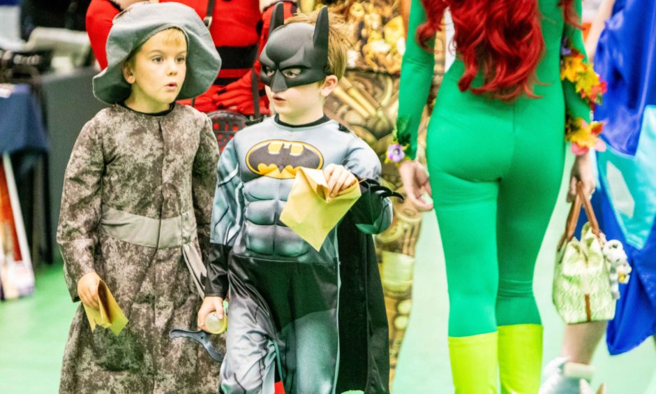 Wizard Max Woffendin, 7 and Batman Lachlan Mackie, 7, both from Glenrothes.