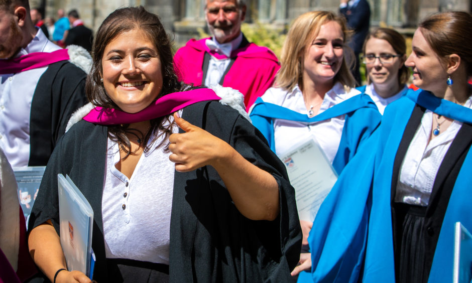 The day gets a thumbs up from this grad.
