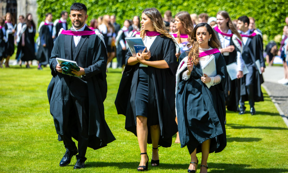 The sun shone for the last day of graduations.
