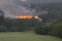 The recent fire at the former Strathmartine Hospital.