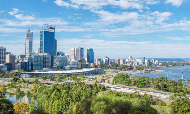 The skyline of Perth. Australia is one of the countries the family will travel around.
