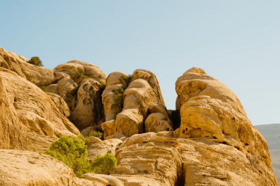 Ancient rock formations in Israel.