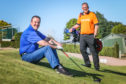 Stuart Rankine and Iain Duncan are playing golf this weekend overnight for 12 hours in aid of charity