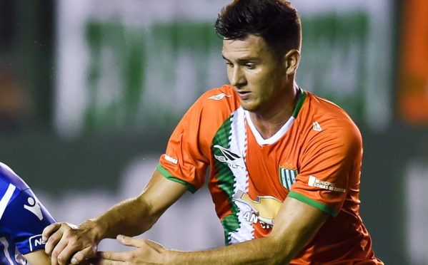 Adrian Sporle (right) in action for Banfield.